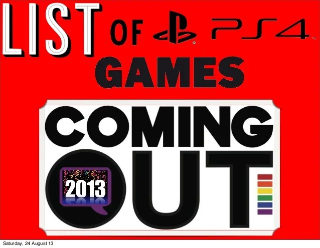 List Of Ps4 Games Coming Out Ps4 Sx