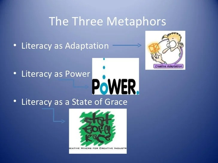 Literacy In Three Metaphors