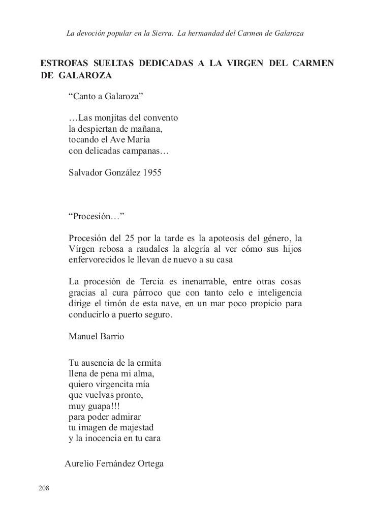 Libro de la Virgen del Carmen de Galaroza Poemas