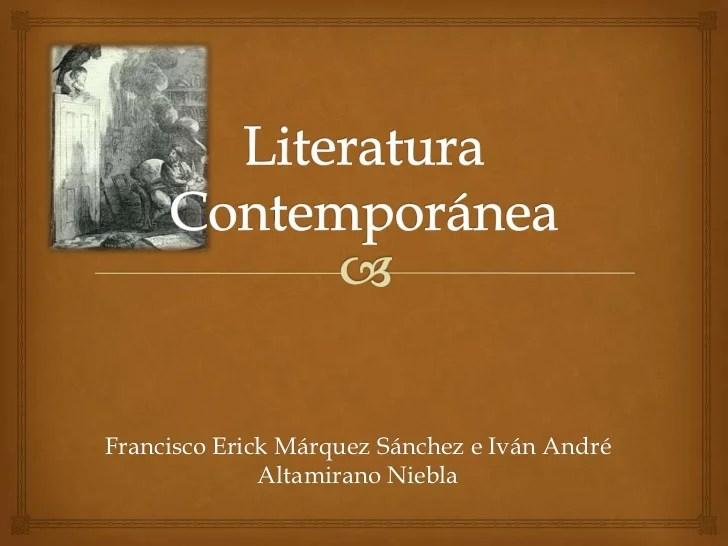 Literatura Contempornea