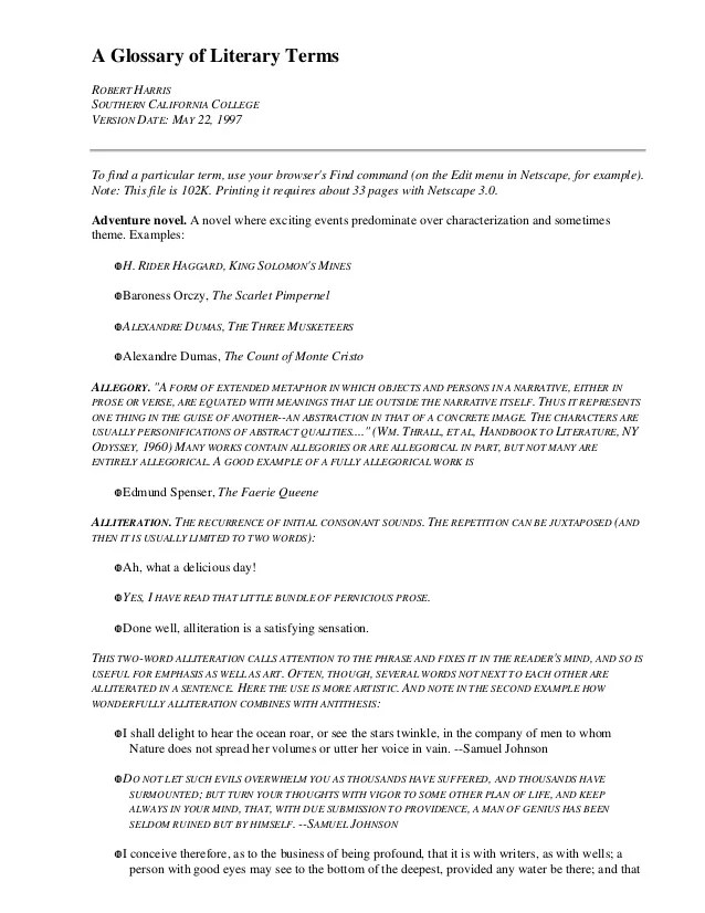 Glossary Of Essay Writing Terms Research Paper Need Thesis