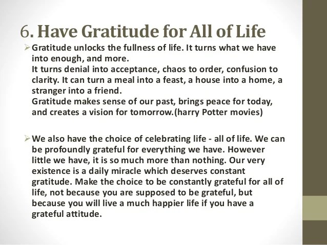 Image result for have gratitude for all of life