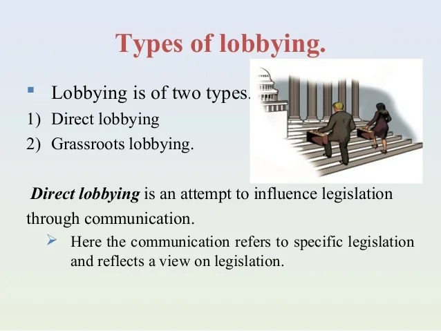 Lobbying as a promotional tool