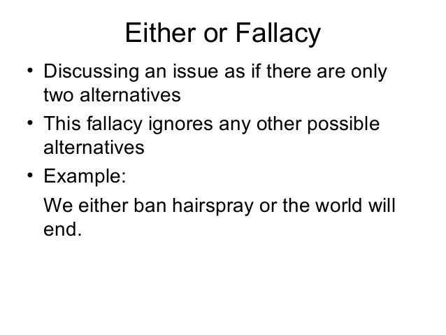 Logical fallacy examples