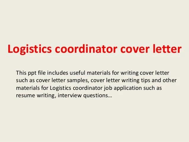 Cover Letter And Resume Ppt | Sample Resume For Logistics Job