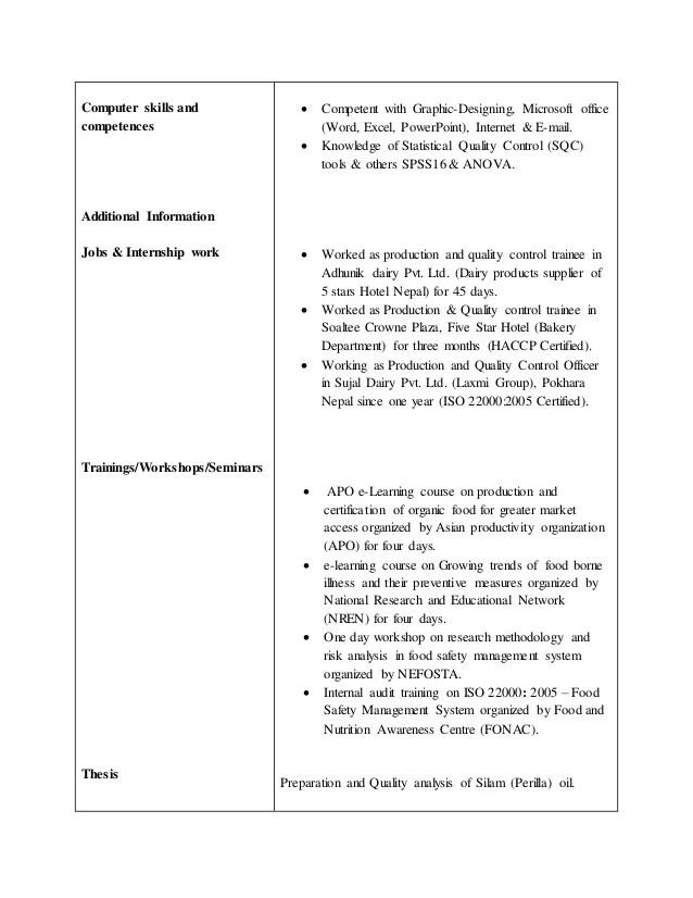 pvt cv competences