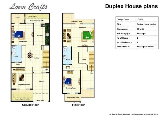 Two Storey Duplex House Plans 800 Sq Ft