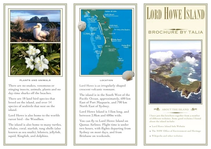 Lord Howe Island Project Brochure