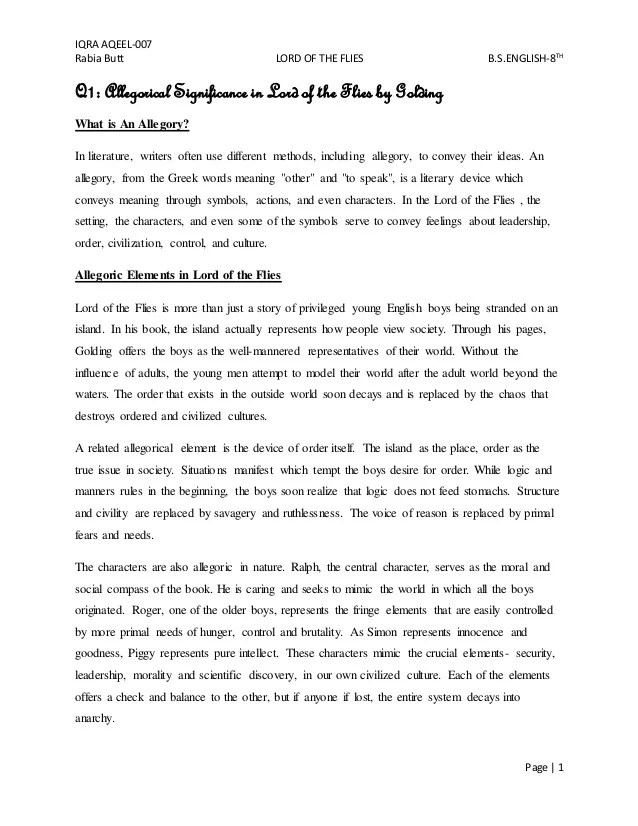 lord of the flies essay example Argumentative essay what are your goals william golding's lord of the flies claims two impulses exist in all human beings.
