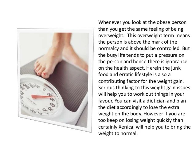 Lose weight quickly with xenical