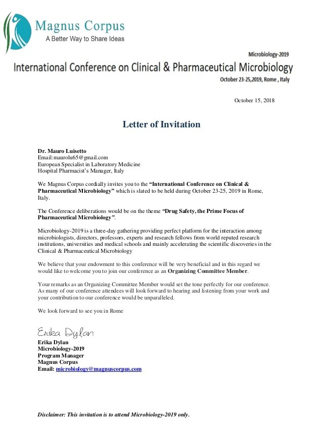 25+ Landscape Conference Invitation Letter Sample Pictures