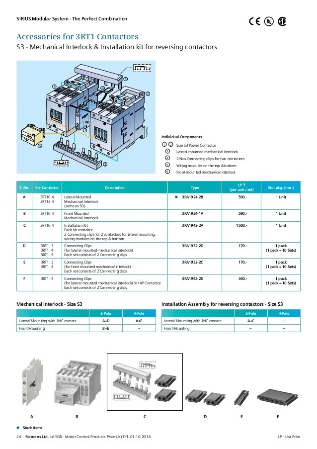Lv motor control_products_pricelist_wef_1st_oct_2016