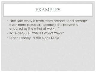 lyric example lyric example 1
