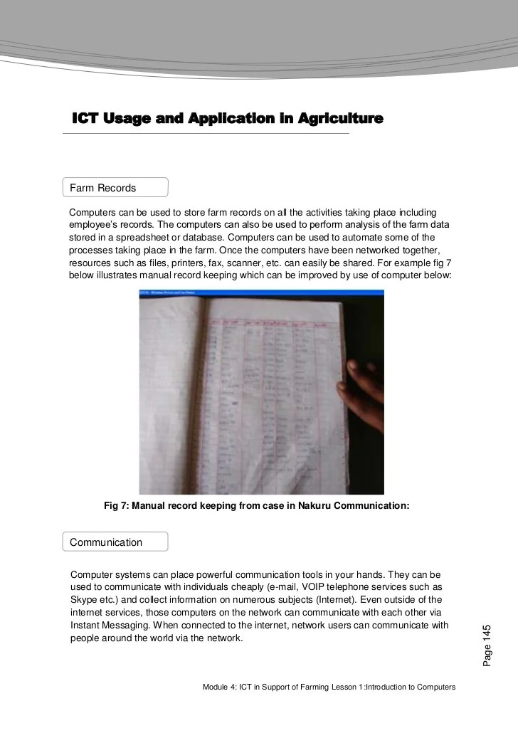 Farmer S Agribusiness Training Course Module 4 Ict In