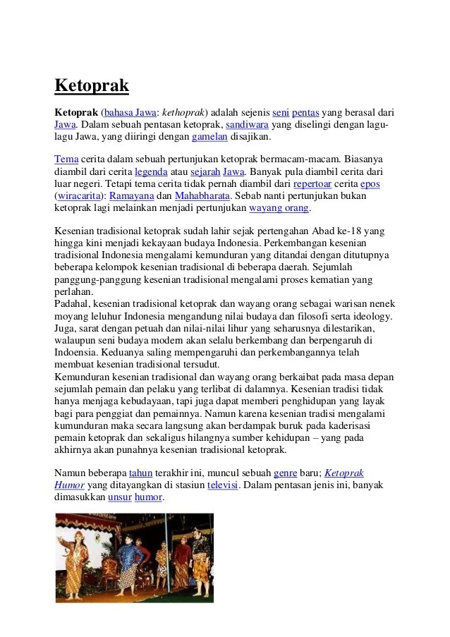 Pengertian Ketoprak Dalam Bahasa Jawa : pengertian, ketoprak, dalam, bahasa, Macam, Teater