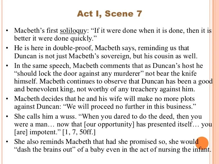 Macbeth Analysis Of Acts
