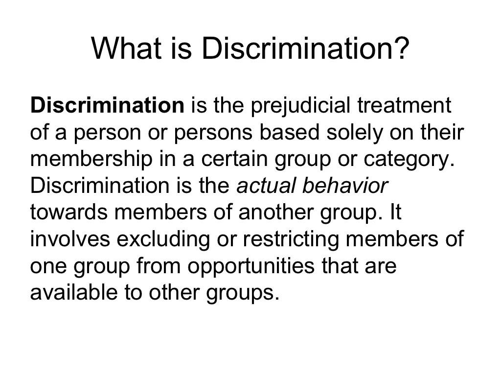 Cultural Diversity Amp Bias Prejudice Amp Discrimination
