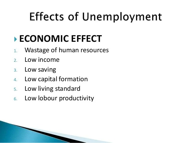 unemployment effect on economy