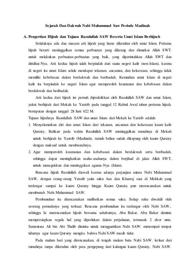 Dakwah Di Madinah : dakwah, madinah, Sejarah, Dakwah, Muhammad, Periode, Madinah