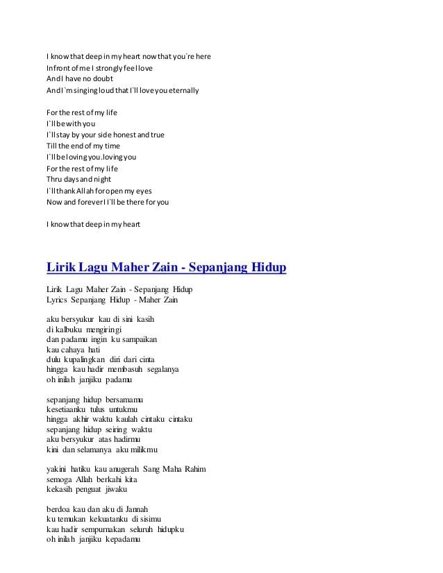 Download Lagu Maher Zain Sepanjang Hidup : download, maher, sepanjang, hidup, Maher