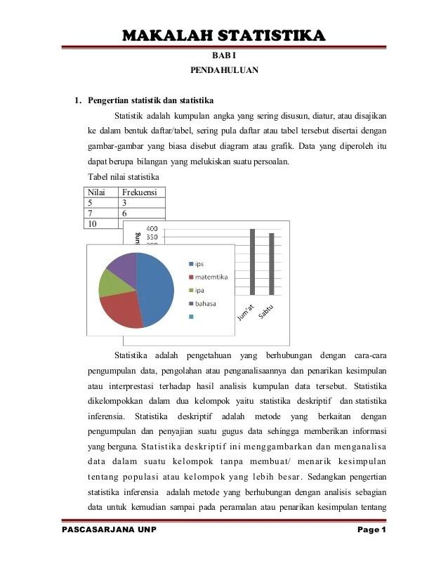 Setelah dilakukan proses pengolahan data melalui program spss 20, dapat diketahui bahwa: Makalah Statistik