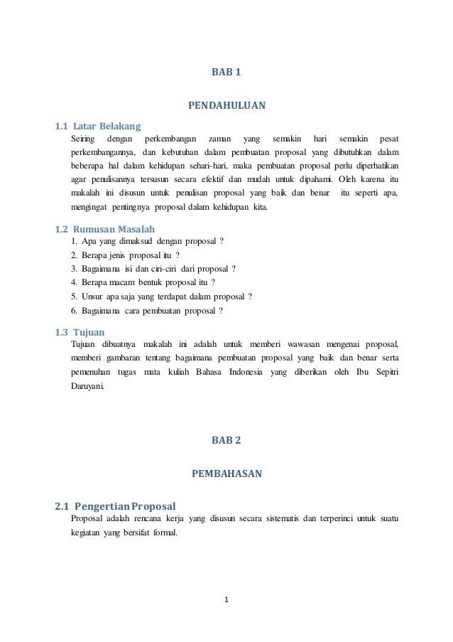 Ciri Ciri Proposal Yang Baik : proposal, Contoh, Proposal, Bahasa, Indonesia, Benar, Cute766
