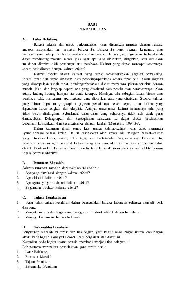 Contoh Latar Belakang Masalah Makalah Mosaicone Cute766