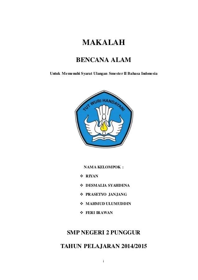 Contoh Makalah Untuk Tugas Bahasa Indonesia Smp Cute766