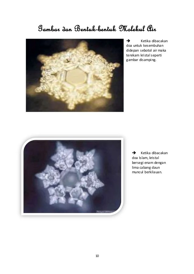 Makalah Keajaiban Molekul Air Zam Zam