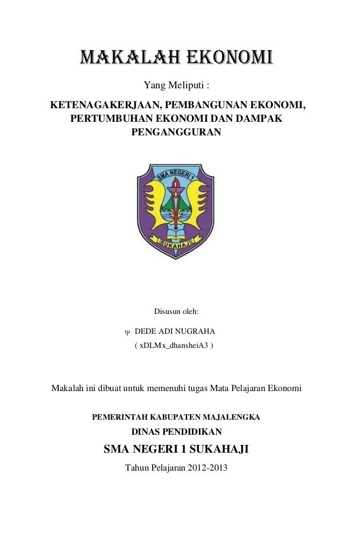 Contoh Judul Makalah Tentang Ekonomi Kumpulan Contoh Makalah Doc Lengkap Cute766