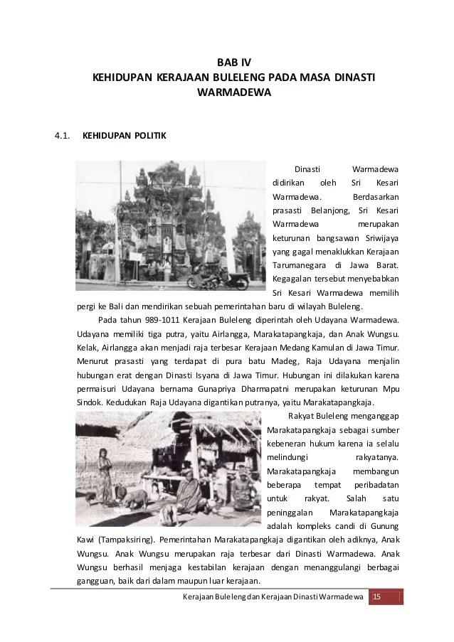 Peninggalan Kerajaan Buleleng : peninggalan, kerajaan, buleleng, Makalah, Kerajaan, Buleleng, Dinasti, Wangsa, Darma