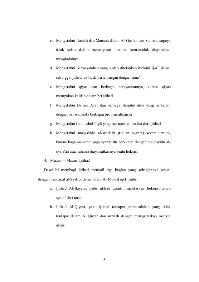 Bentuk Bentuk Ijtihad : bentuk, ijtihad, Makalah, Metode, Ijtihad, Macam