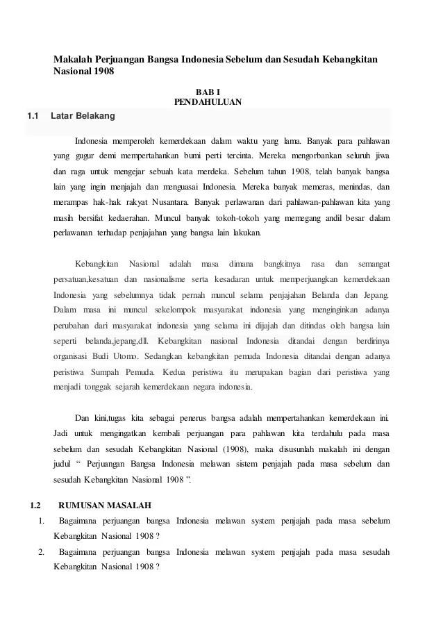 Makalah Sejarah Perjuangan Bangsa Indonesia : makalah, sejarah, perjuangan, bangsa, indonesia, Makalah, Perjuangan, Bangsa, Indonesia, Sebelum, Sesudah, Kebangkitan
