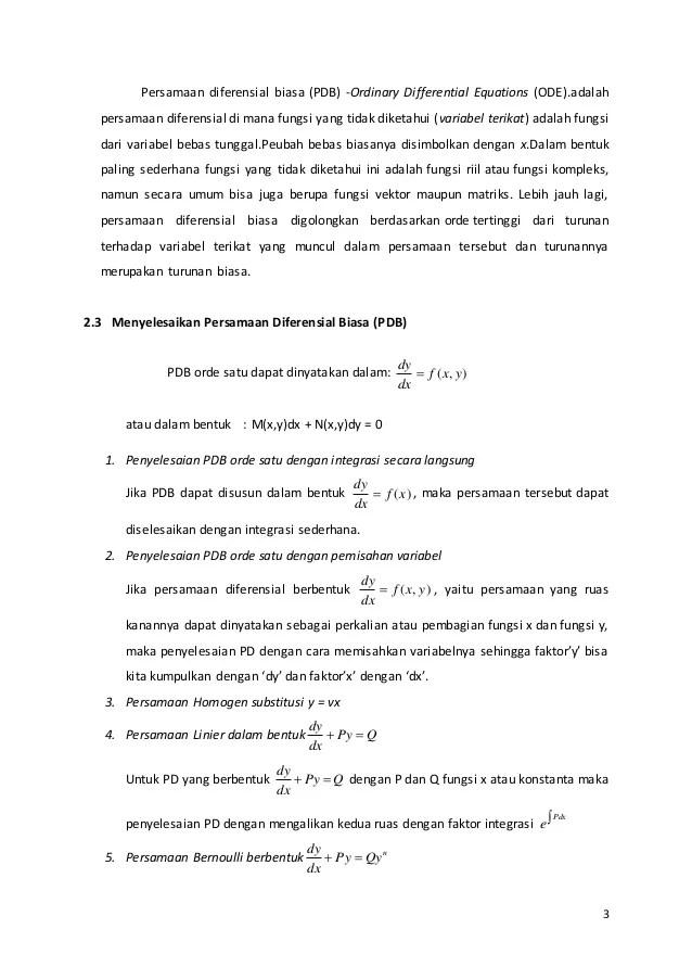 Makalah Persamaan Diferensial Orde 2 : makalah, persamaan, diferensial, Makalah, Persamaan, Differensial