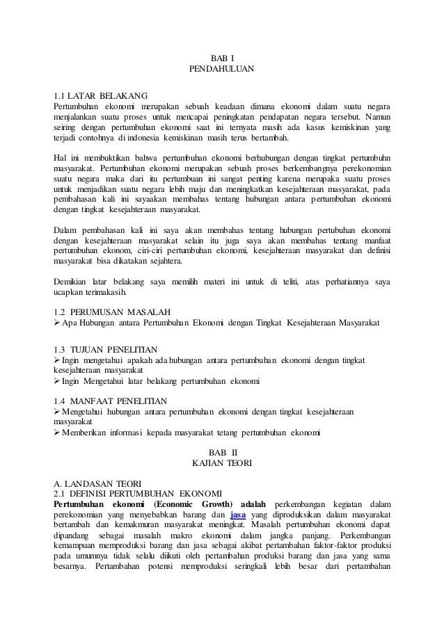Contoh Makalah Ekonomi Perkembangan Perekonomian Di Indonesia Contoh Makalah Edukasi Baru Cute766