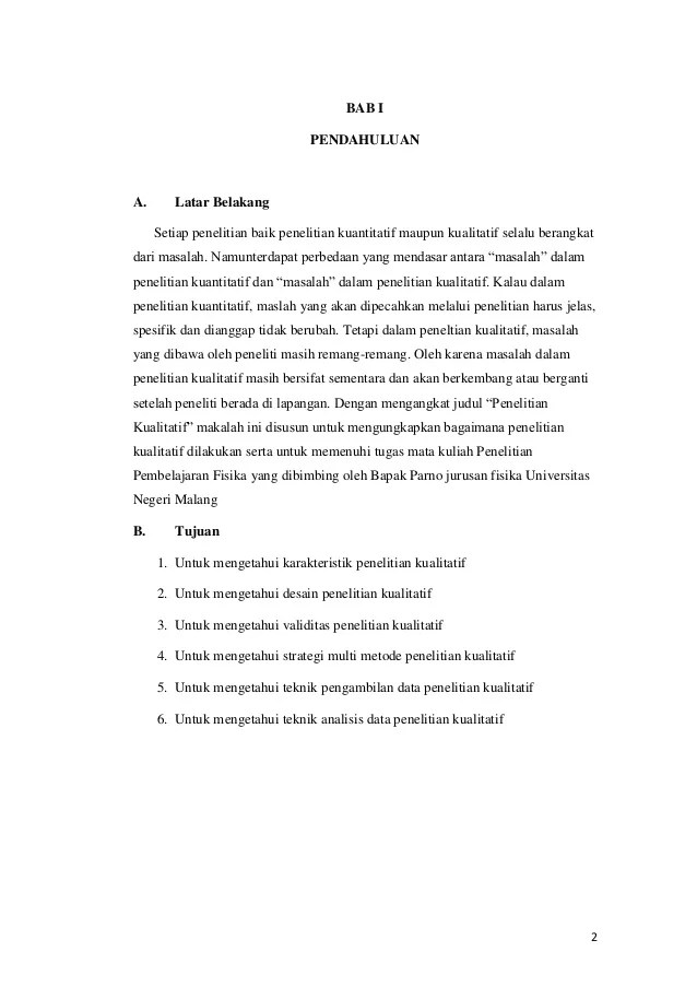 Contoh Makalah Yang Menggunakan Metode Penelitian Kualitatif Cute766
