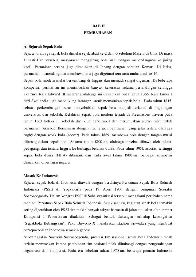 Rangkuman Materi Sepak Bola : rangkuman, materi, sepak, Makalah, Tentang, Sejarah, Sepak