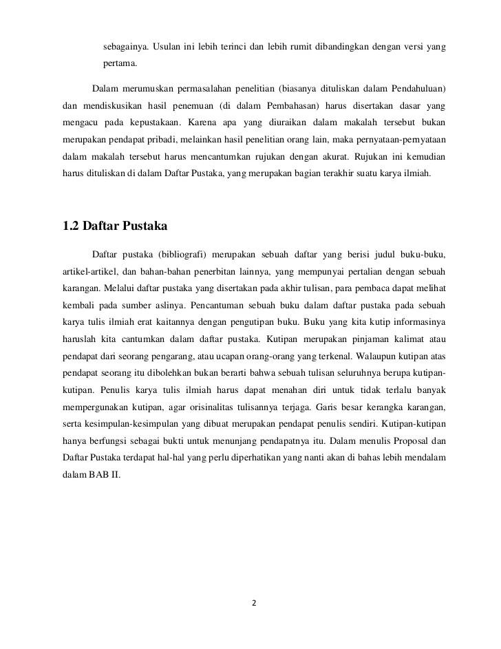 Contoh Makalah Yang Ada Tinjauan Pustaka Dan Pembahasan Cute766