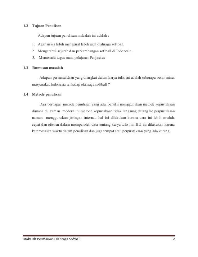 Sejarah Softball Di Indonesia : sejarah, softball, indonesia, Makalah, Olahraga, Permainan, Softball