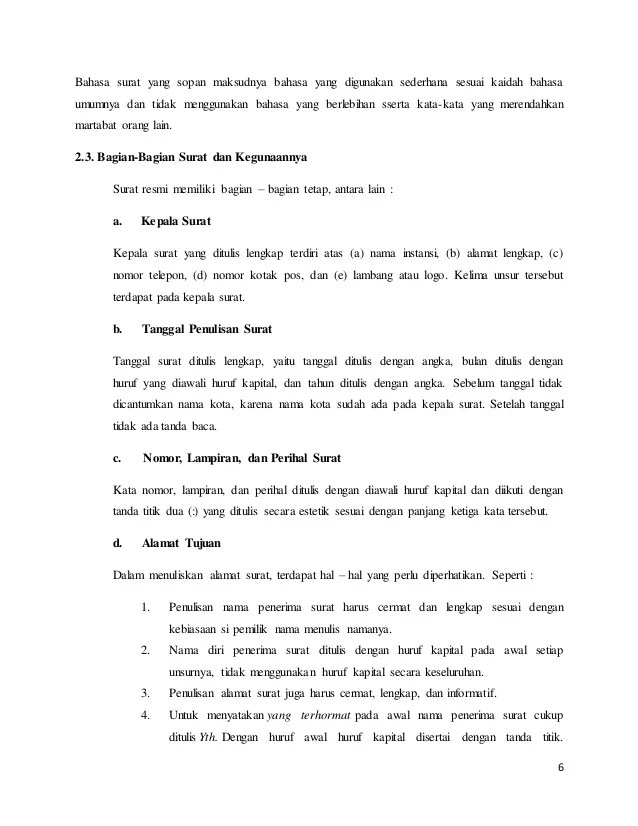 Contoh Makalah Surat Menyurat Resmi Cute766