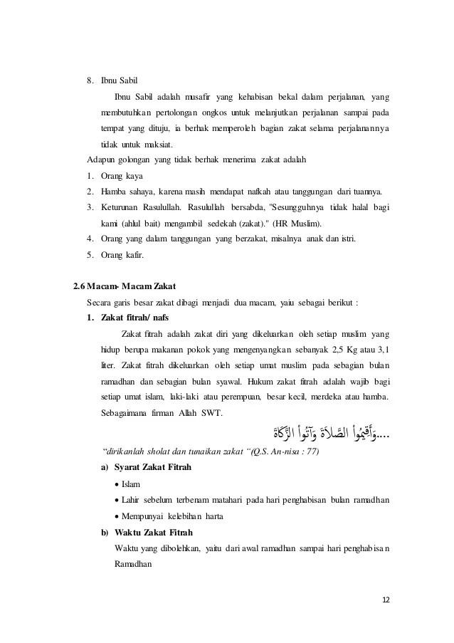 Makalah Agama Islam Tentang Zakat