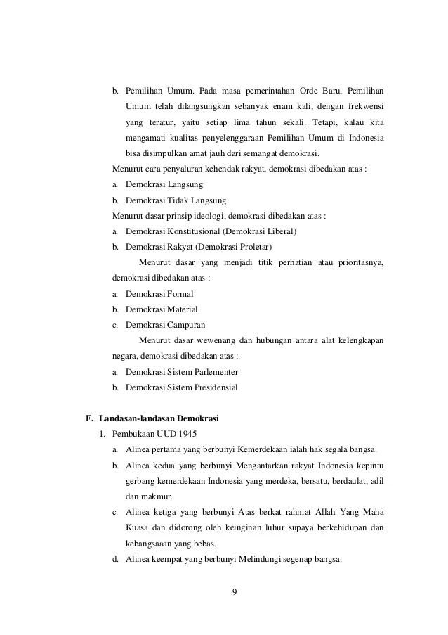10 Pilar Demokrasi : pilar, demokrasi, Makalalah, Demokrasi, Pancasila