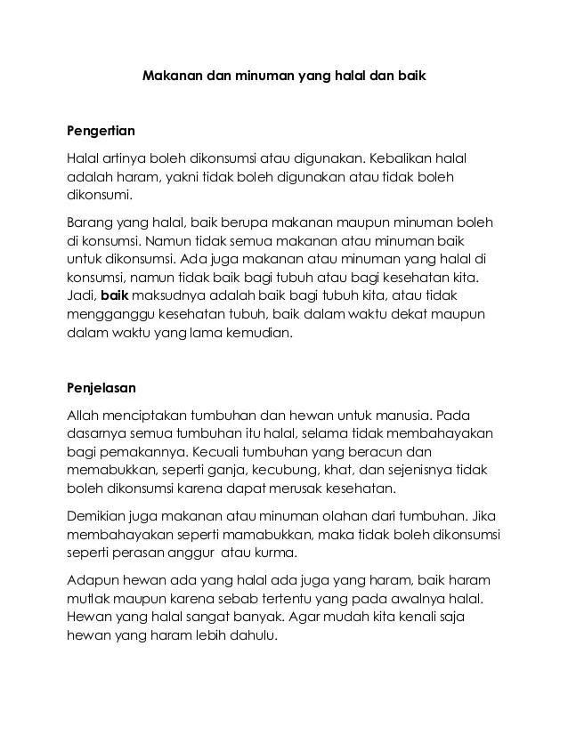 Kriteria Makanan Dan Minuman Halal : kriteria, makanan, minuman, halal, Makanan, Minuman, Halal