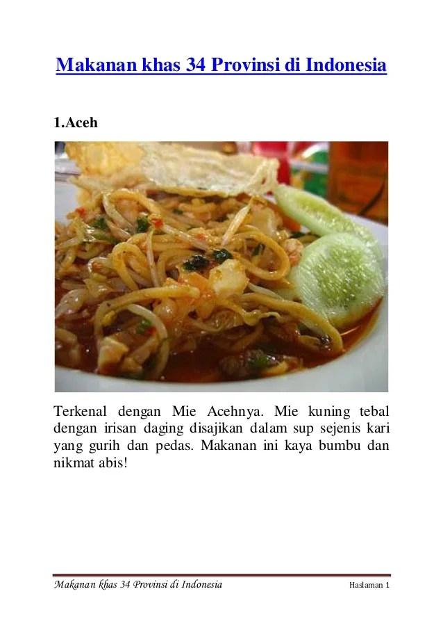 Gambar Makanan Khas Indonesia : gambar, makanan, indonesia, Makanan, Provinsi, Indonesia