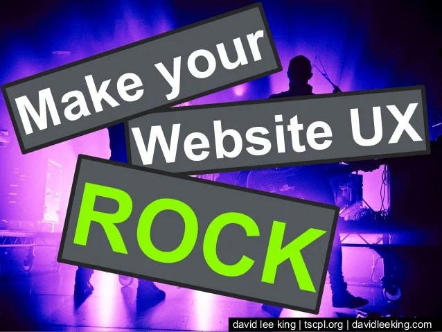 Make your Website UX ROCK