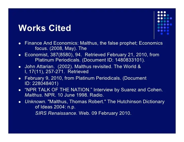 works cited mal