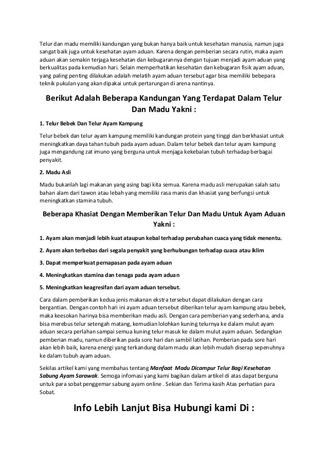 Manfaat Telur Kampung Dicampur Madu : manfaat, telur, kampung, dicampur, Manfaat, Dicampur, Telur, Kesehatan, Sabung, Sarawak