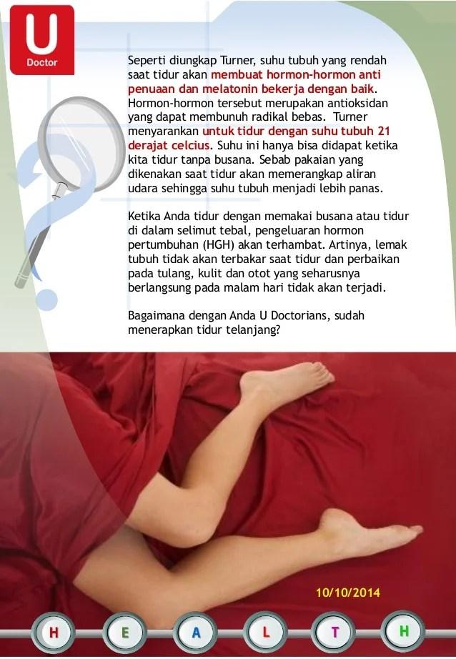 Saat Tidur Suhu Tubuh Menjadi : tidur, tubuh, menjadi, Manfaat, Tidur, Telanjang