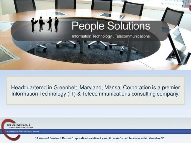 Mansai Corporation  Information Technology Consulting  IT Staffing