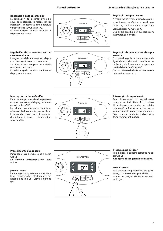Manual condensación ariston egis premium 24 ff